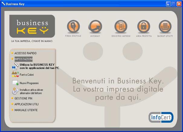 Business Key Impostazioni
