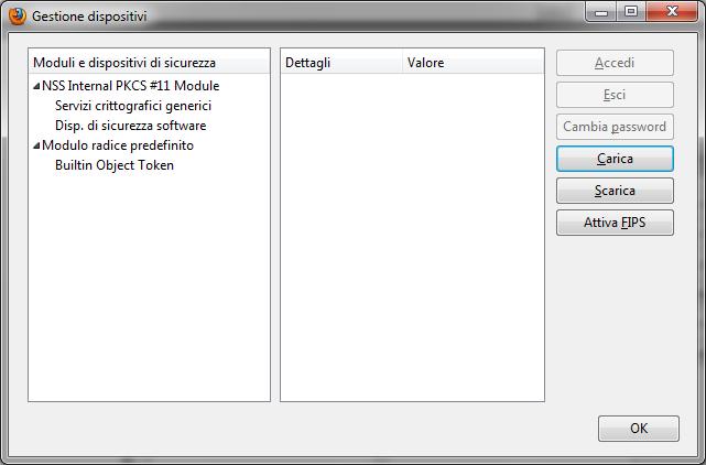 Mozilla Firefox Gestione dispositivi
